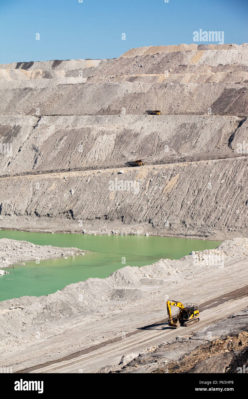 The Beltana number 1 mine, an open cast or drift coal mine managed by Xstrata coal in the Hunter Valley, New South Wales. If we are serious about tack - Stock Image