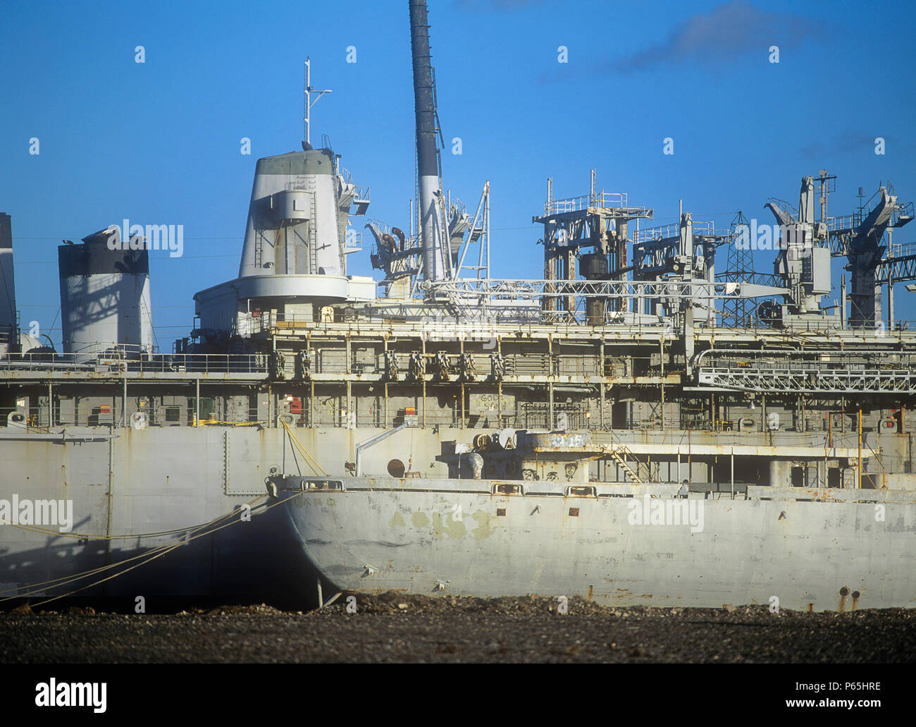 the ghost ships in a dismantling yard in hartlepool uk these 2nd