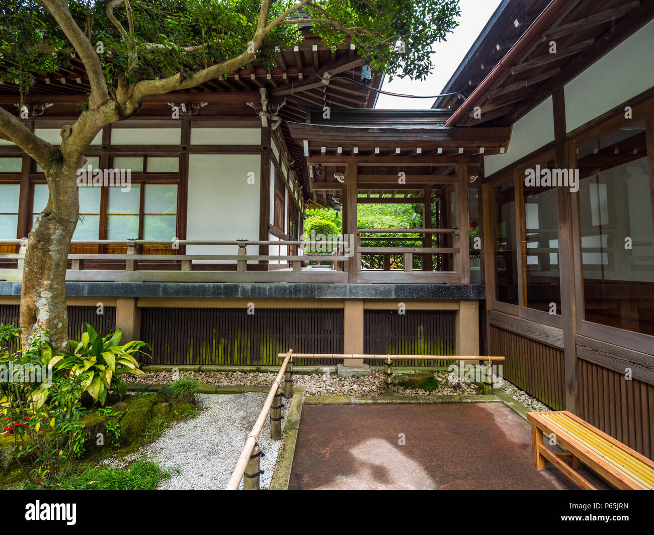 traditional japanese houses in kamakura tokyo japan june 17 rh alamy com in traditional japanese homes rooms are separated by opaque sliding screens called interior of traditional japanese house