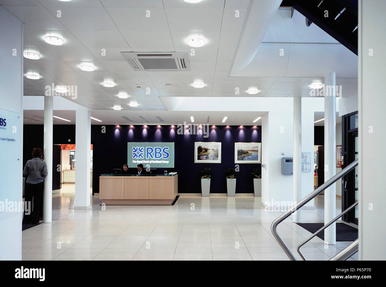 Royal Bank of Scotland (RBS) offices reception area - Stock Image