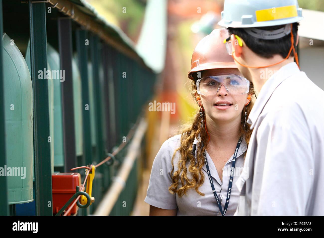 Iron Ore Production, State of Minas Gerais, Brazil - Stock Image