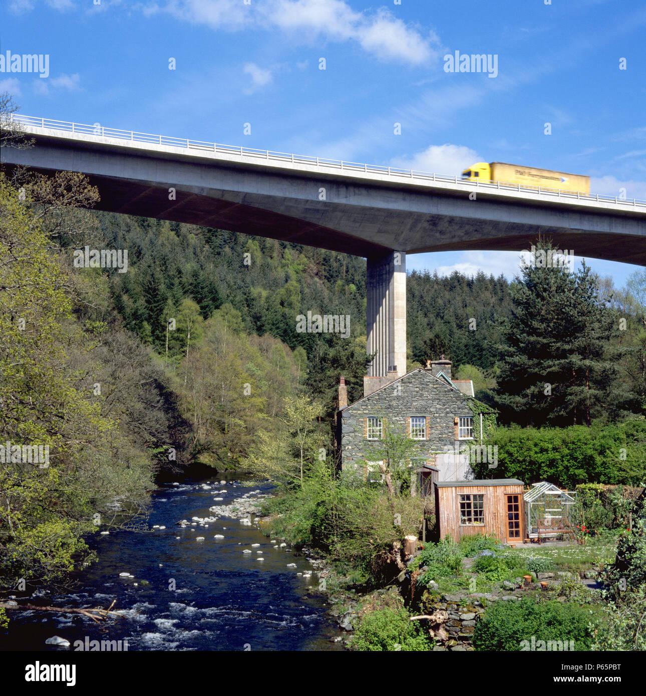 Bridge on the A66 Cumbria, England, United Kingdom. - Stock Image