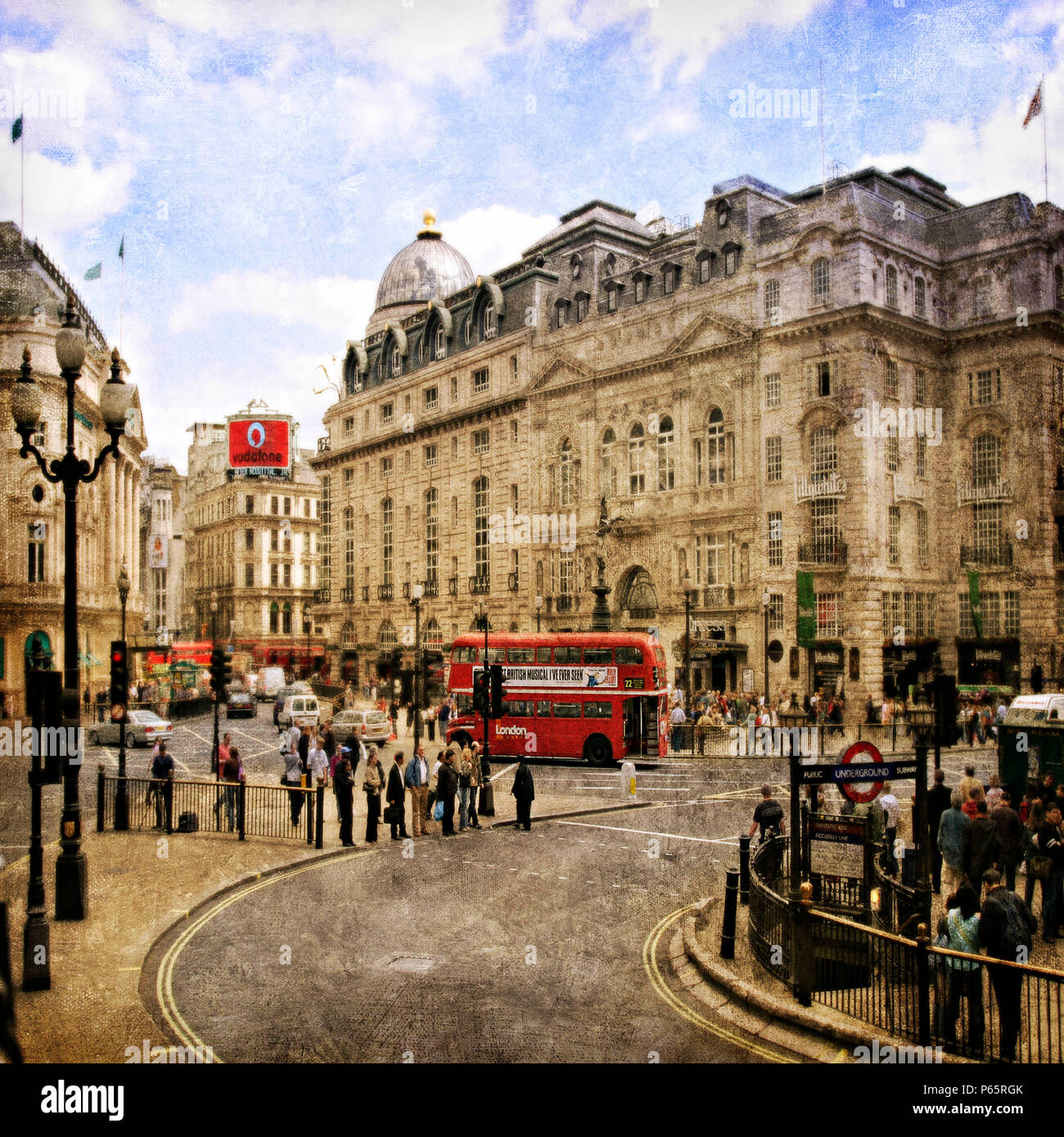 Piccadilly Circus, London, UK - Stock Image