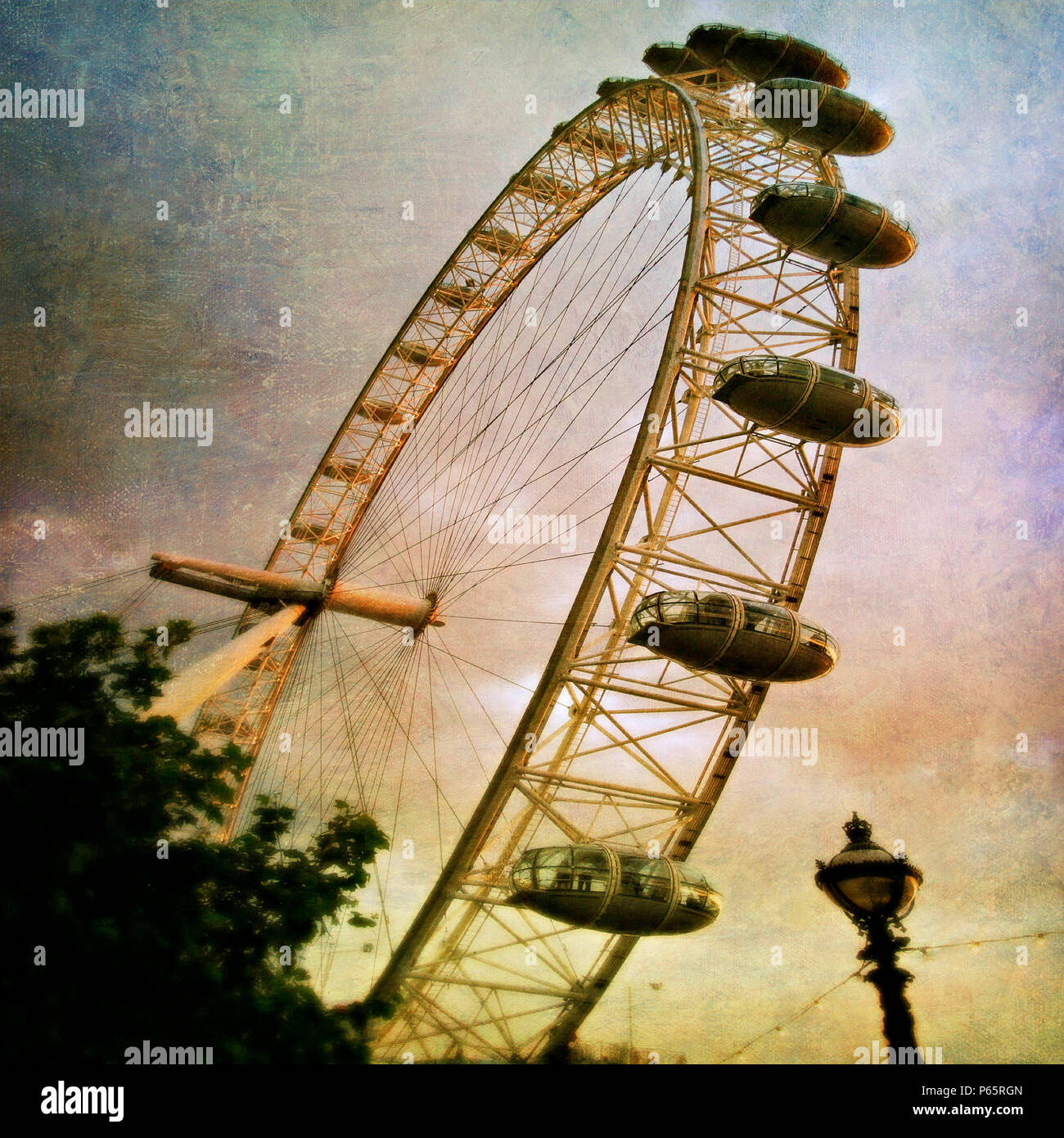 London Eye, London, UK. Designed by David Marks and Julia Barfield. - Stock Image