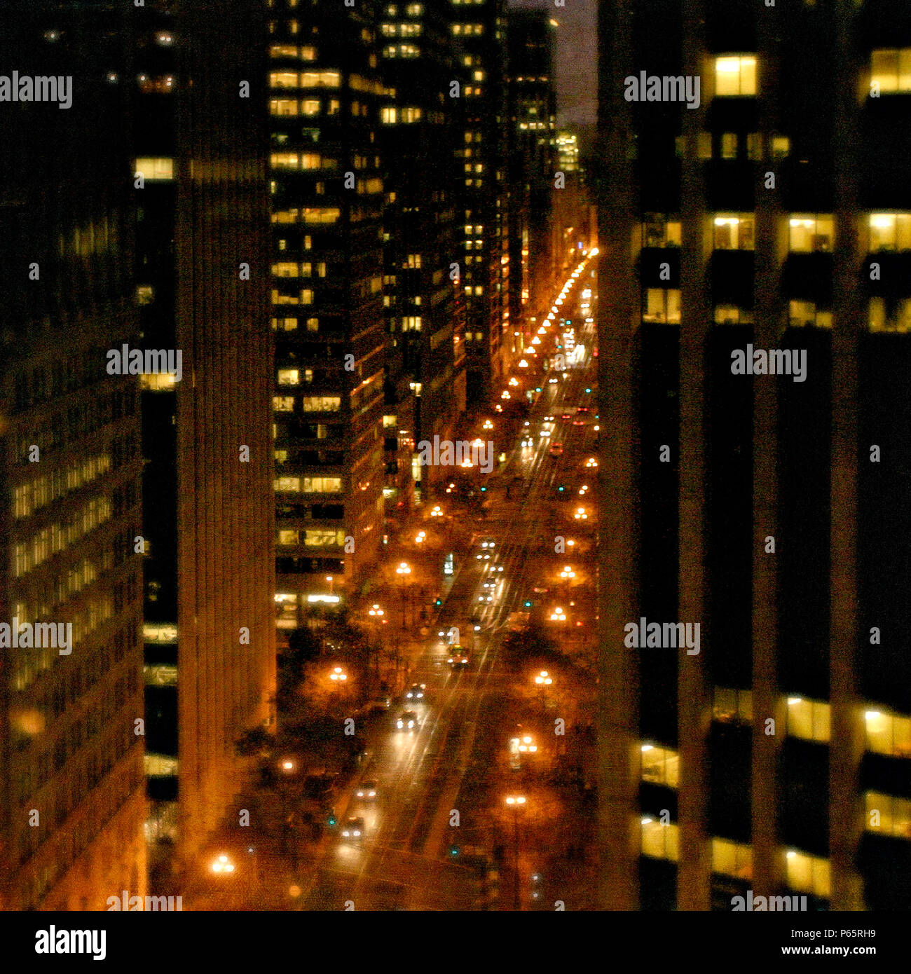 Financial district, San Francisco, California, USA (painterly) - Stock Image
