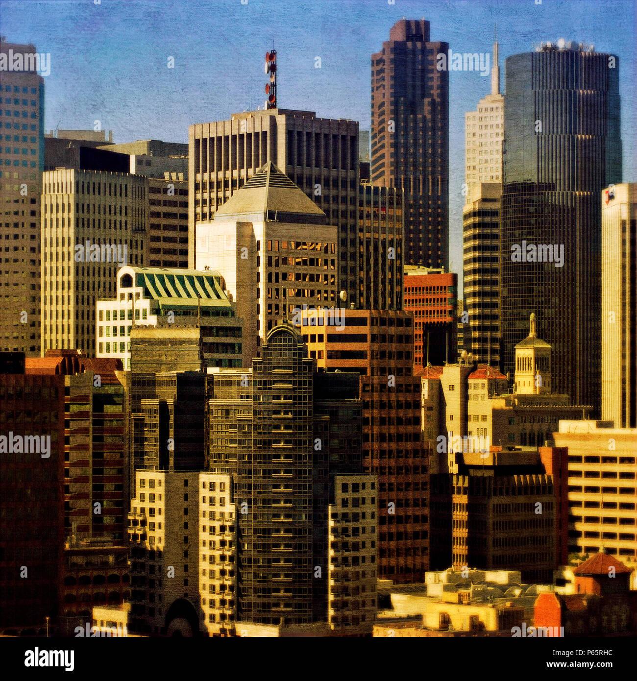 San Francisco, California, USA (painterly) - Stock Image