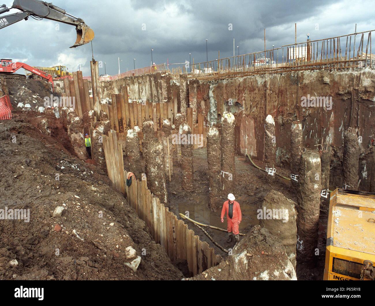 Reinforced concrete columns stock photos reinforced for Concrete pillars for foundation