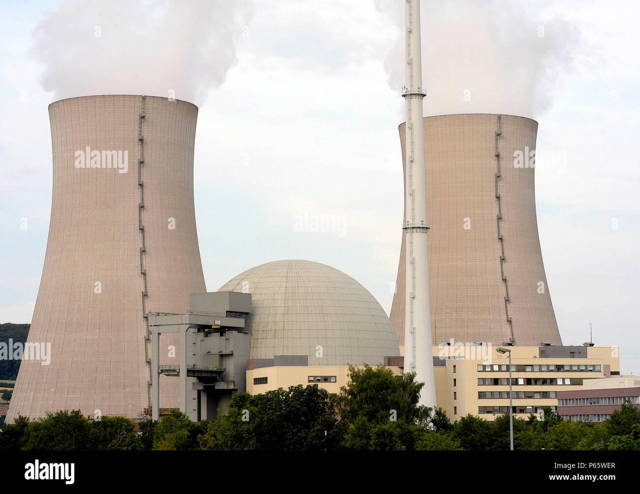 Atomic power plant Grohnde, Lower Saxony, Germany - Stock Image