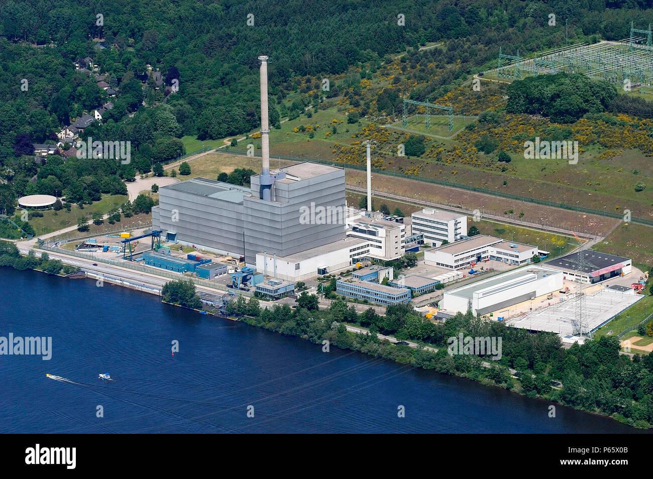 Kruemmel nuclear power plant in Germany near Geesthacht, near Hamburg. Stock Photo