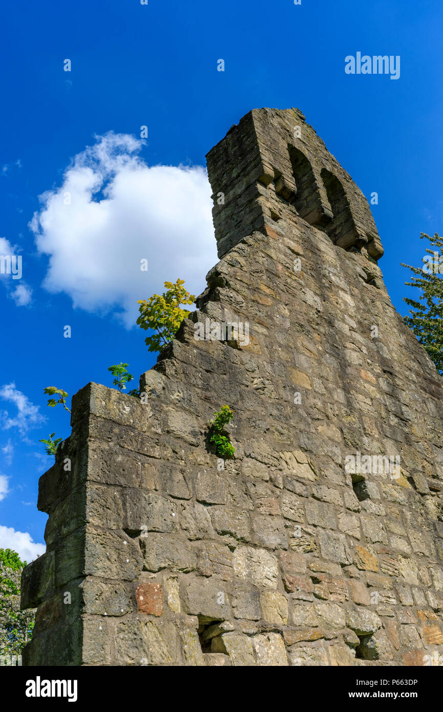 Kinneil Church gable wall - Stock Image