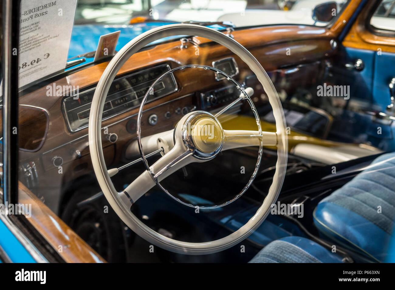 Interior Of The Luxury Car Mercedes Benz 220s W180 Ii Ponton
