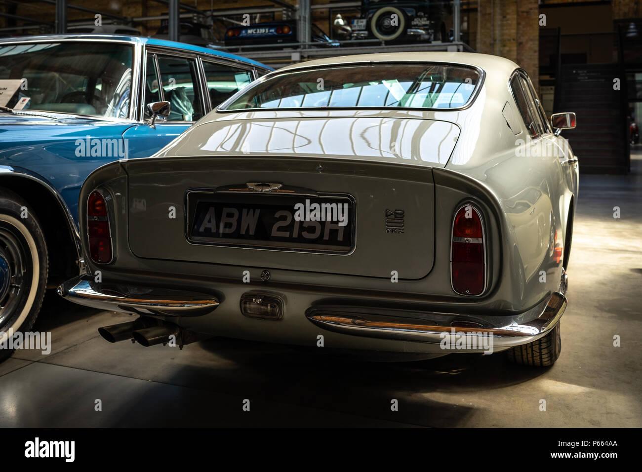 Grand Tourer Car Aston Martin Db6 Mkii 1970 Rear View Exhibition 31 Oldtimertage Berlin Brandenburg 31th Berlin Brandenburg Oldtimer Day Stock Photo Alamy