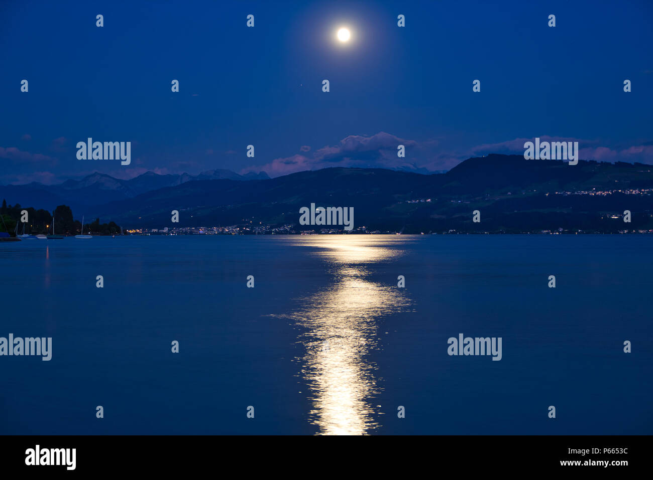 Moon light shadow - Stock Image