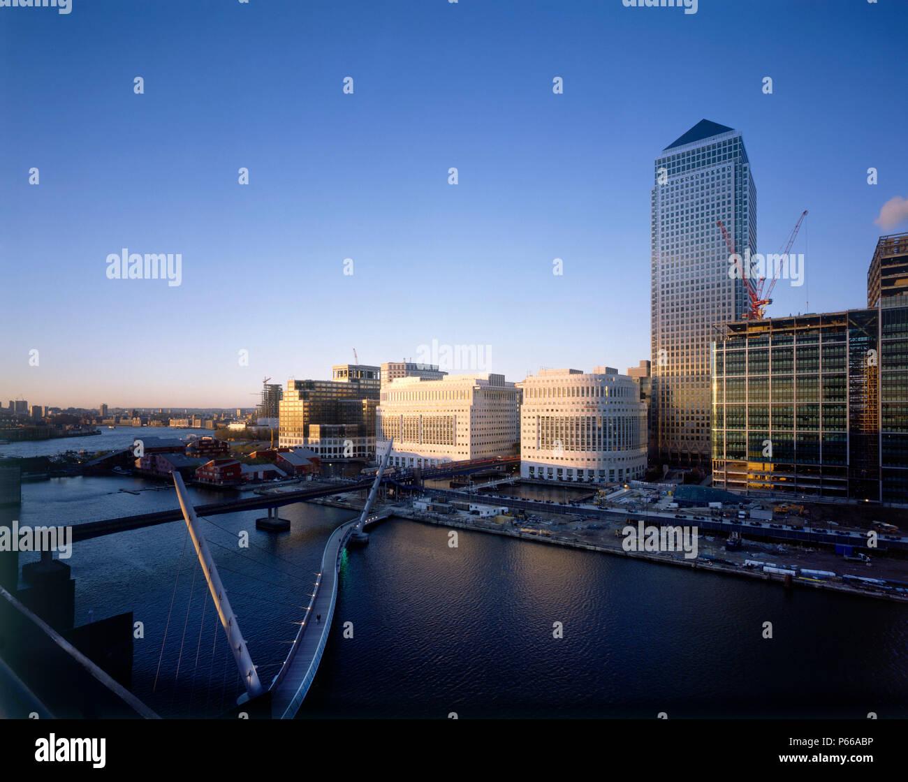 Canary Wharf  Docklands area. London  United Kingdom. - Stock Image