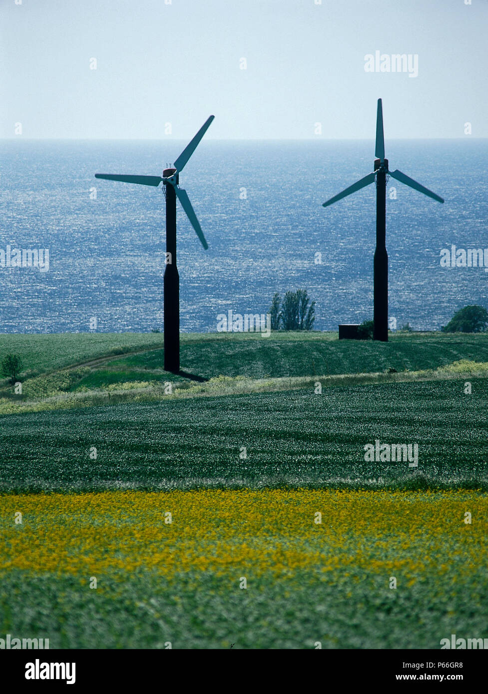 Wind turbines. Stock Photo