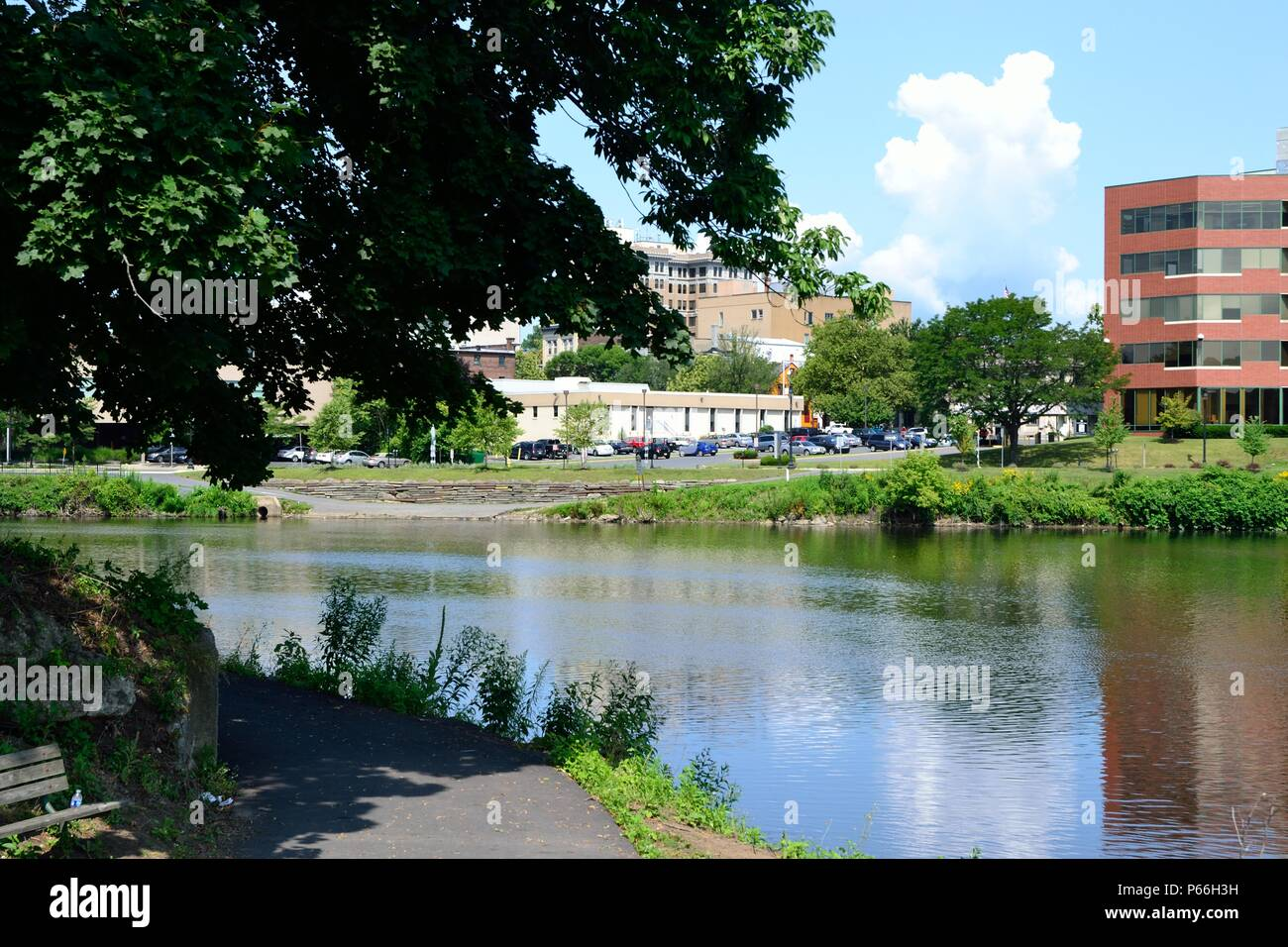 Delaware Canal State Park at Easton, Pennsylvania USA, at