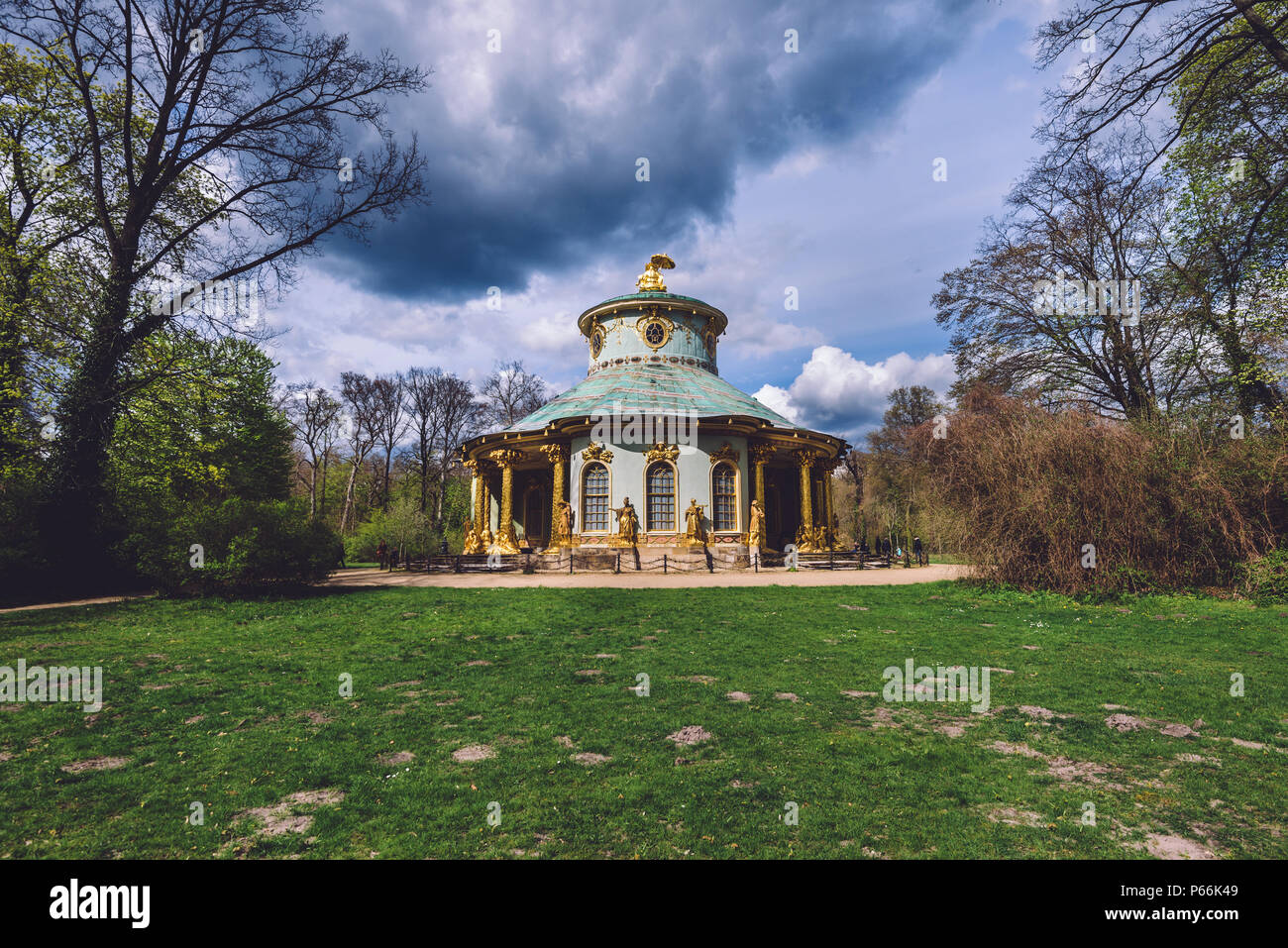 Chinese Tea house Pavilion in Potsdam - Stock Image