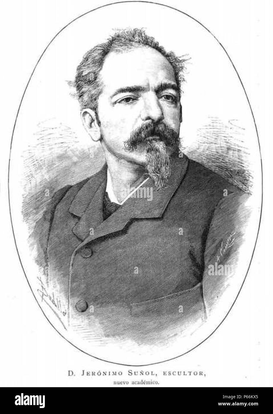 1882-Jeronimo-Suñol-escultor. - Stock Image