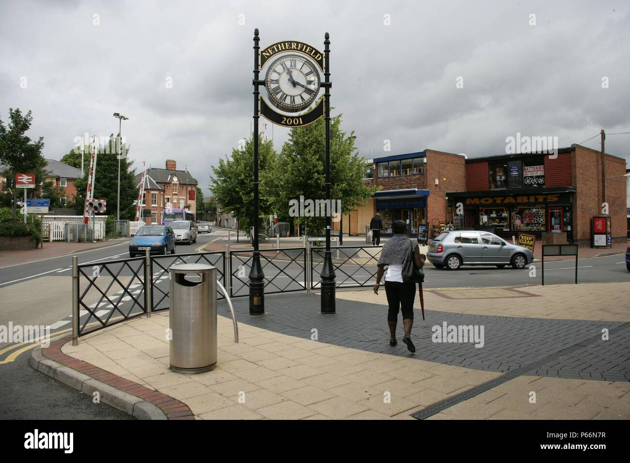 Environs of the station at Carlton, Nottinghamshire. 2007 - Stock Image