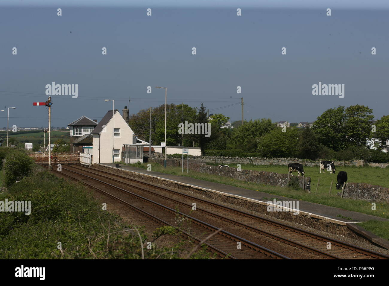 General view of Ty Croes station, Anglesey. 2007 - Stock Image
