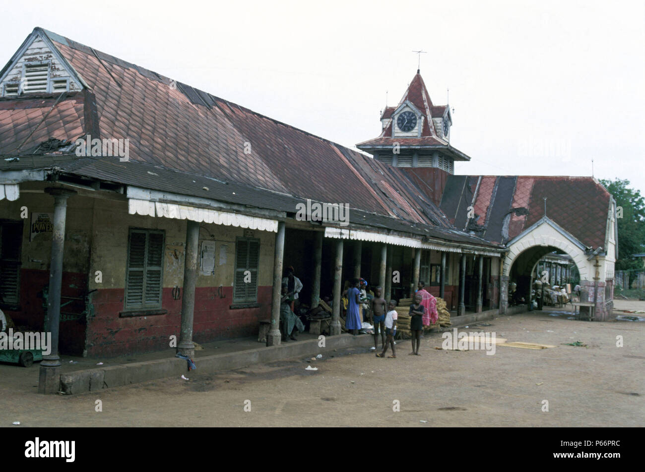 Ghana Railway's Sekondi Station in all its colonial magnificence, Tuesday 4 June 1985. - Stock Image