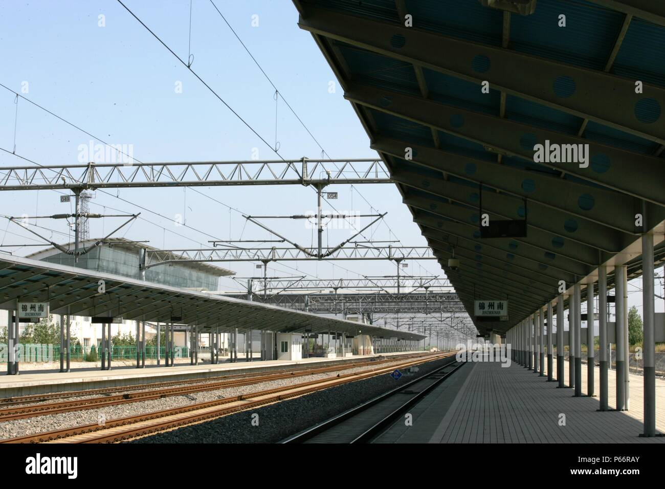 New station at Jinzhou south, China. September 2005. - Stock Image