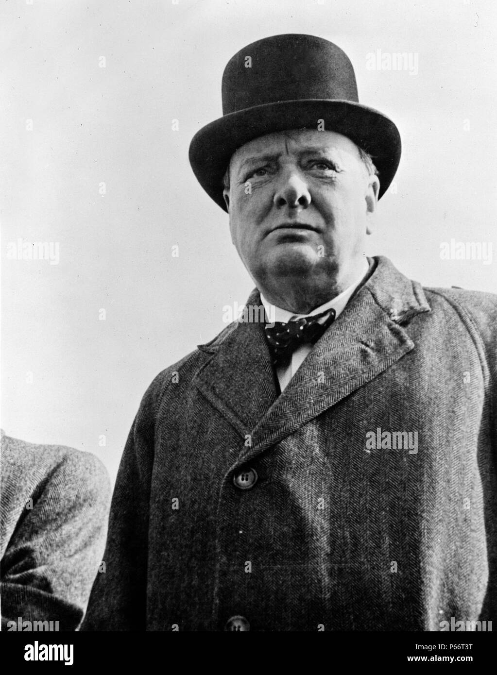 Prime Minister Winston Churchill of Great Britain 1942. Sir Winston Leonard Spencer-Churchill, 1874 - 1965. British politician who was the Prime Minister of the United Kingdom from 1940 to 1945 and again from 1951 to 1955. - Stock Image