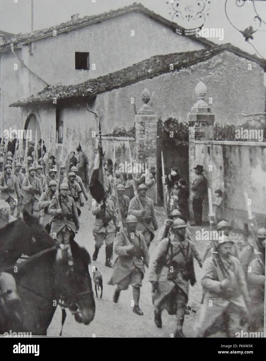 French army in Italy in World war One, 1917 - Stock Image