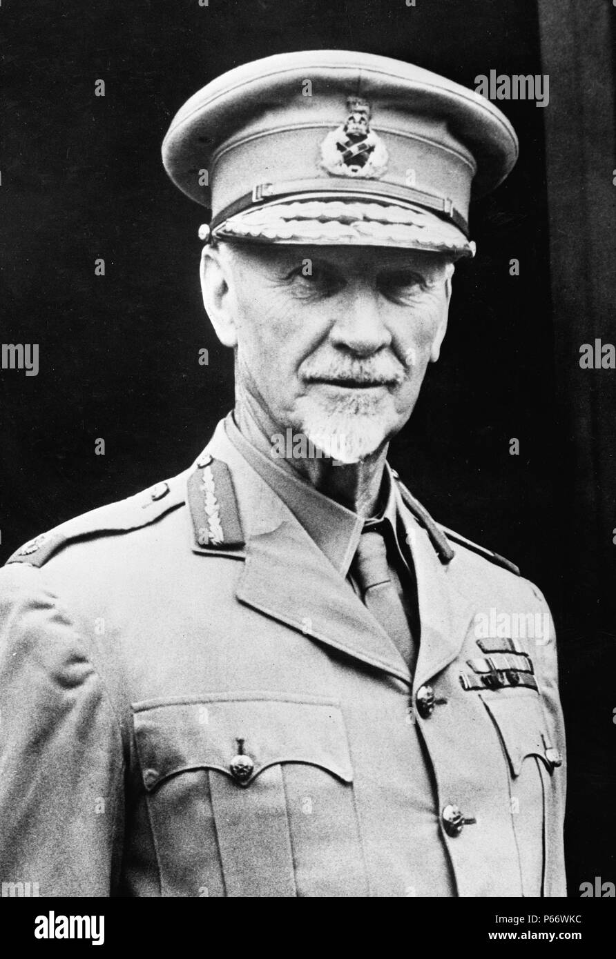 Jan Christiaan Smuts, (1870-1950) A prominent South African and British Commonwealth statesman, military leader and philosopher. In addition to holding various cabinet posts, he served as Prime Minister of the Union of South Africa from 1919 until 1924 and from 1939 until 1948. - Stock Image