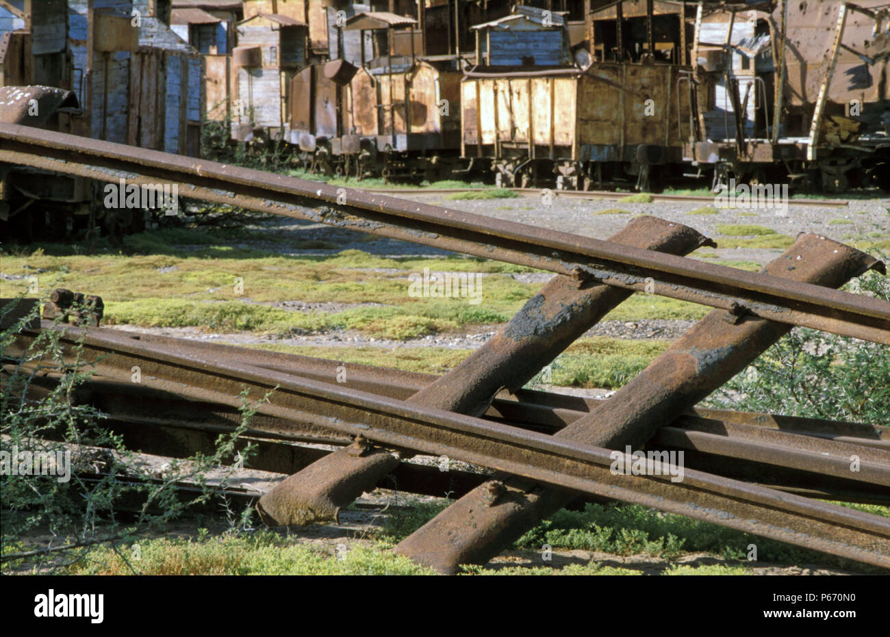 The rebuilding of Eritrea's railway between Masawa on  the Red Sea Coast and Asmara the capital, following 30 years of abandonment and Civil War, was  - Stock Image