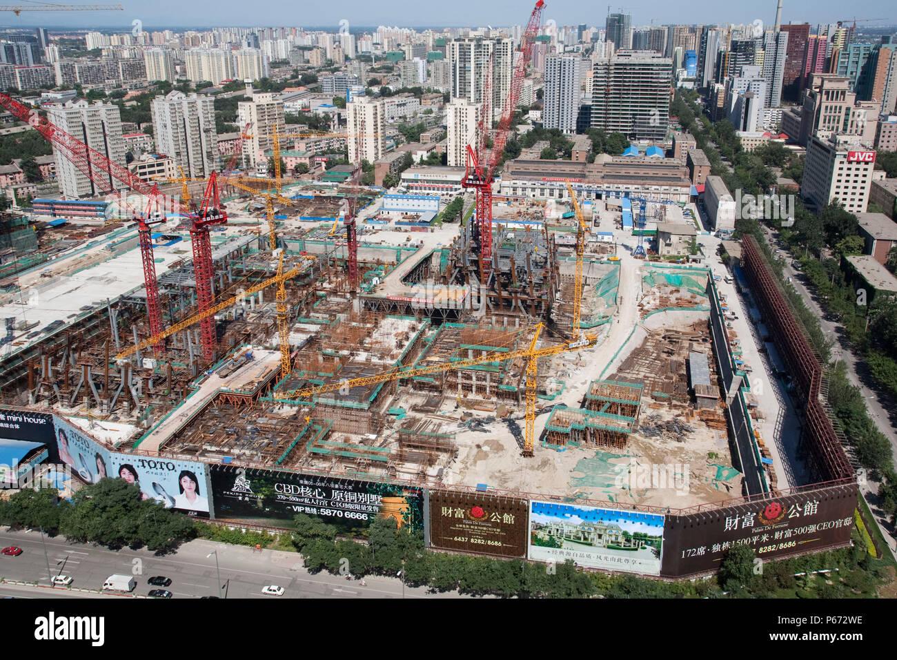 Construction site of the CCTV Headquarters Beijing Stock Photo ...