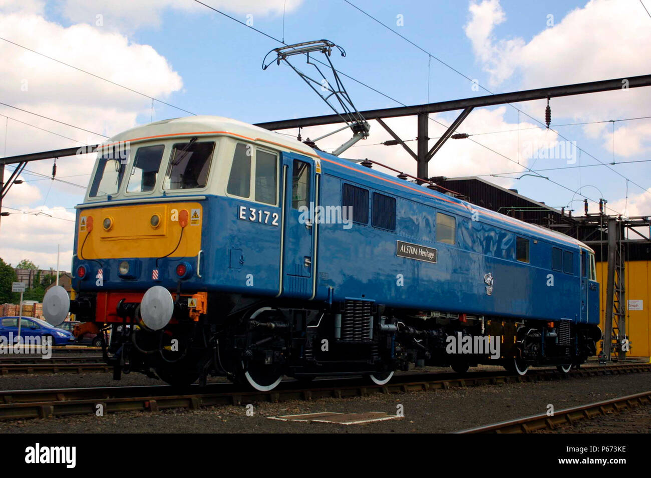 Alstom Heritage number E3172 at Wembley Depot. - Stock Image