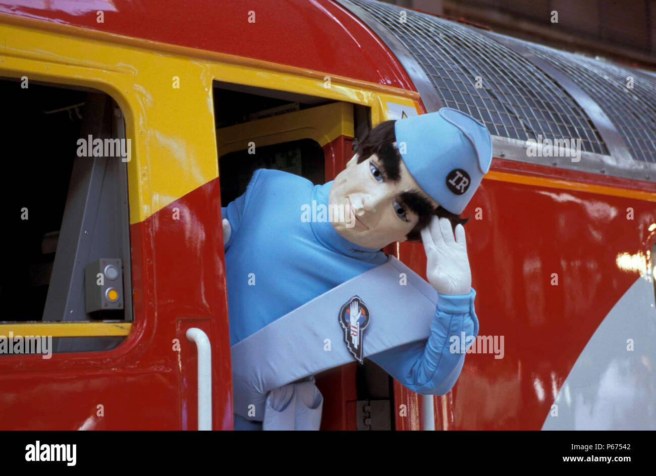 The launch of Virgin's class 57 thunderbird train. - Stock Image