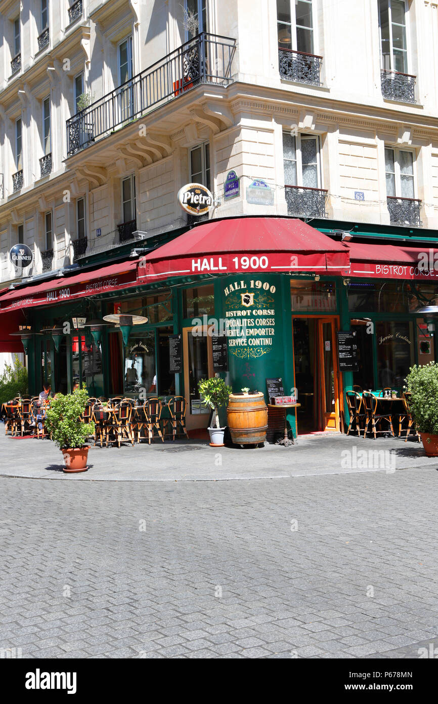 Hall 1900 Bistrot Corse. Paris. France - Stock Image