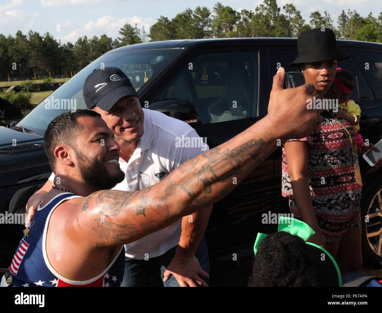 Us marine corps veteran jorge salazar takes a selfie with john us marine corps veteran jorge salazar takes a selfie with john cena during a meet and greet at the 2016 invictus games at the espn wide world of sports in m4hsunfo