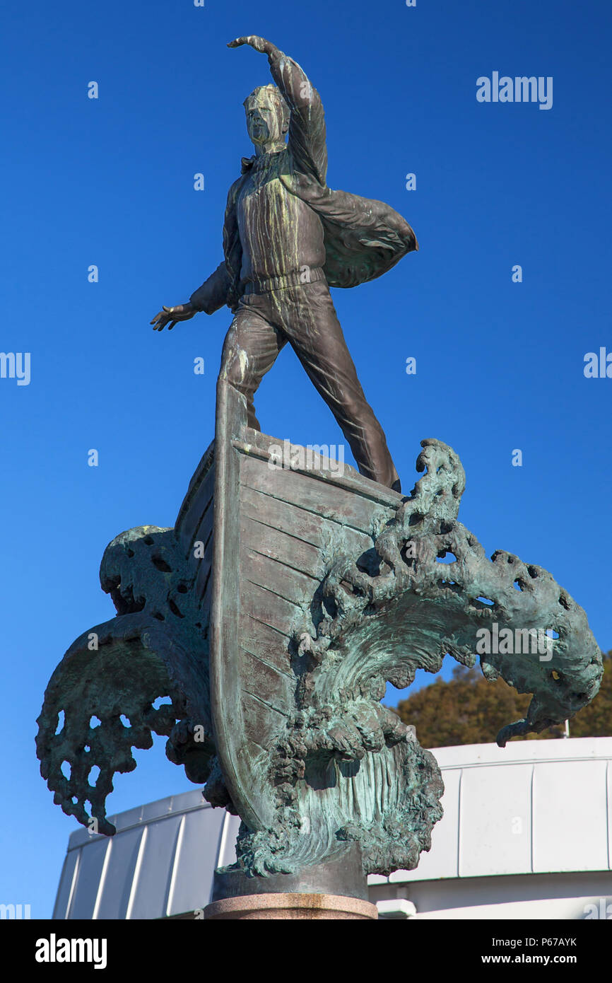 Monument to the North Sea Traffic in Alesund, Norway. - Stock Image