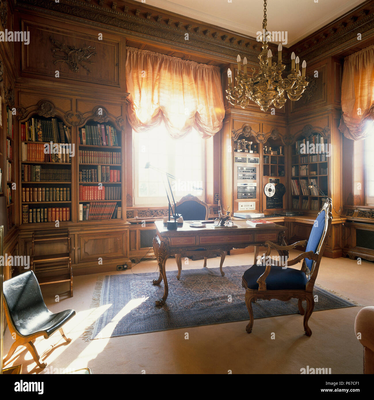 Eclectic home office Rustic View Of An Eclectic Home Office Alamy View Of An Eclectic Home Office Stock Photo 210375845 Alamy