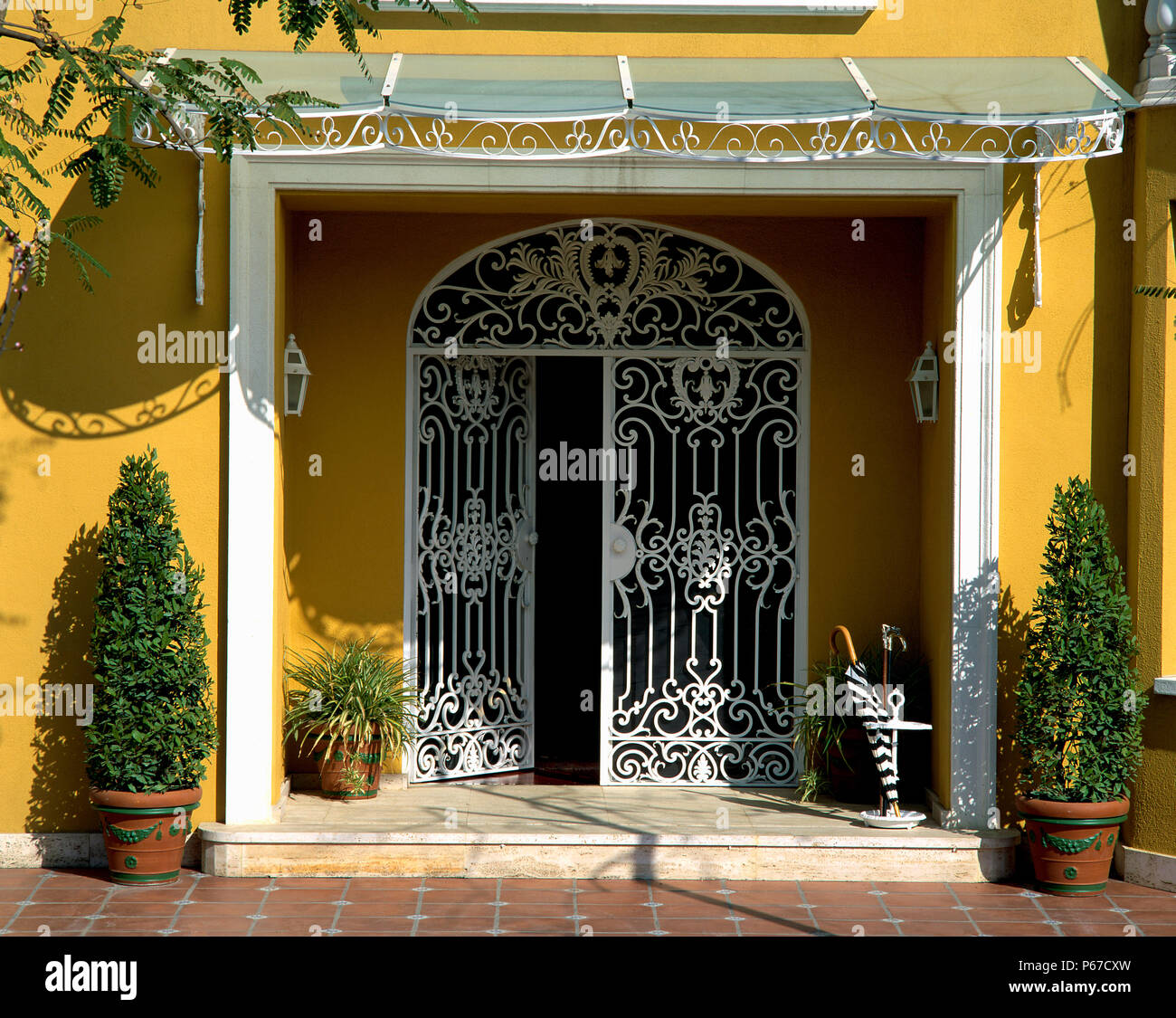 View of an ornate door - Stock Image