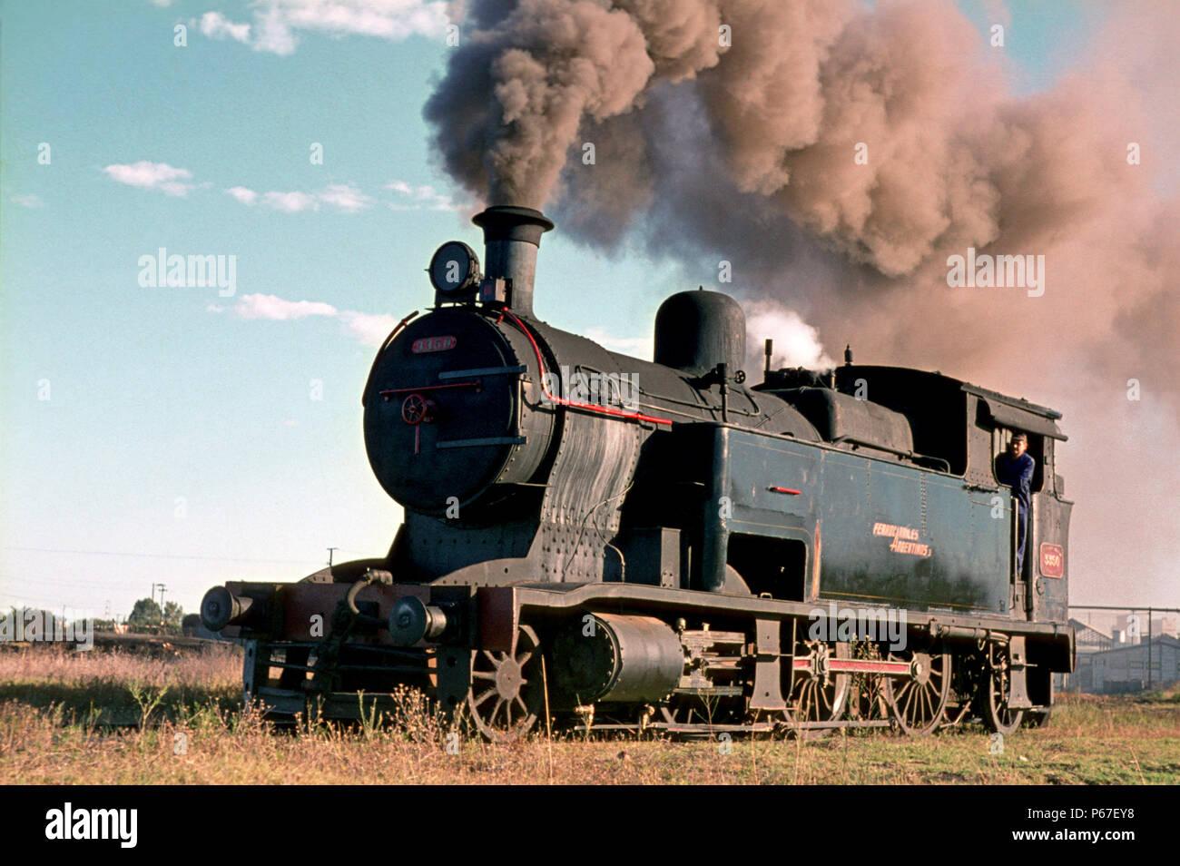 9b612593bf Bahia Blanca depot yard with Argentinian Railway 8A Class 2-6-2T No.