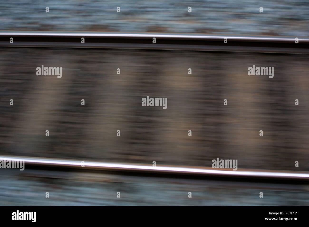 Blurred UK track. 2003. - Stock Image
