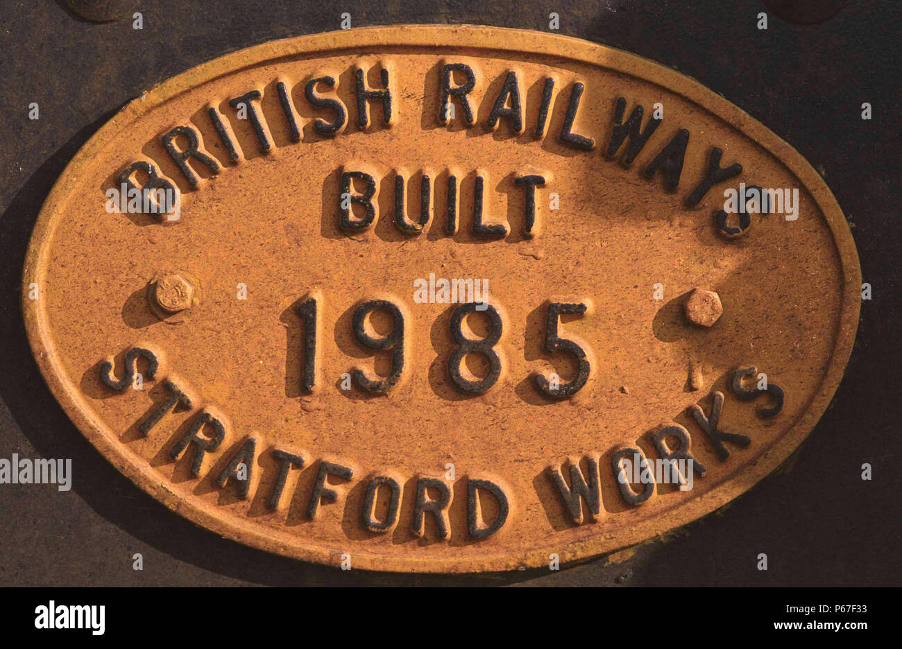 Builders plate detail. - Stock Image