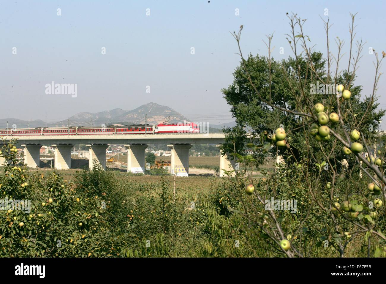Building the new railway between Jinzhou and Qinghuangdao. September 2005. - Stock Image