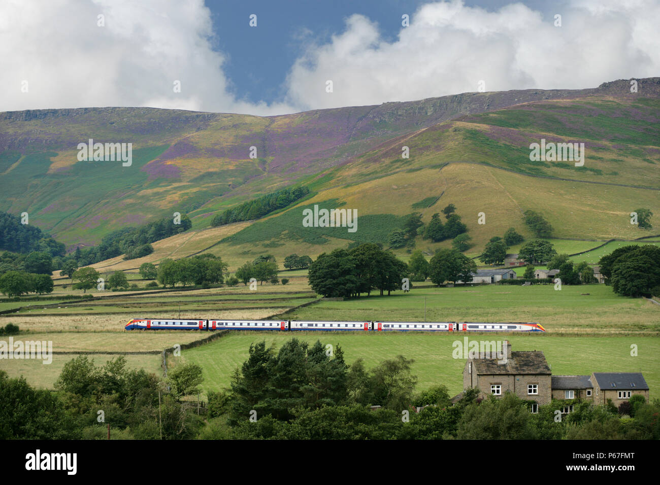 East midlands trains - Stock Image