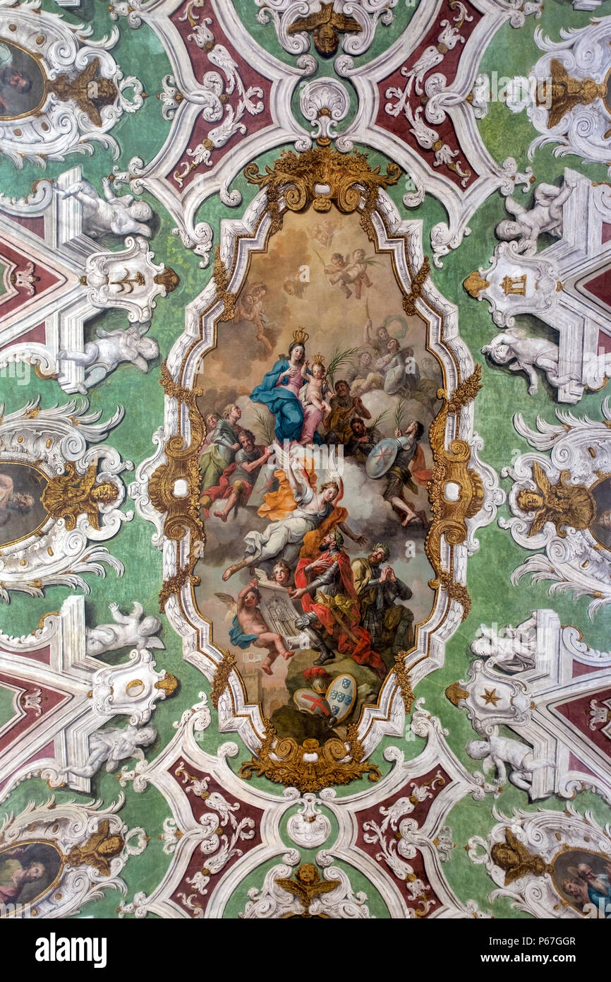 Fresco of the Basilica of Our Lady of the Martyrs, Lisbon - Stock Image
