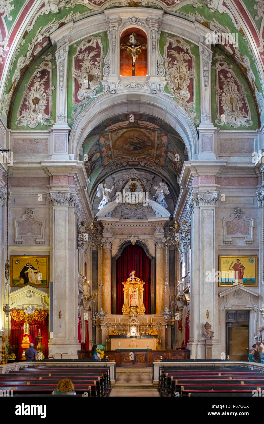 Basilica of Our Lady of the Martyrs, Lisbon - Stock Image