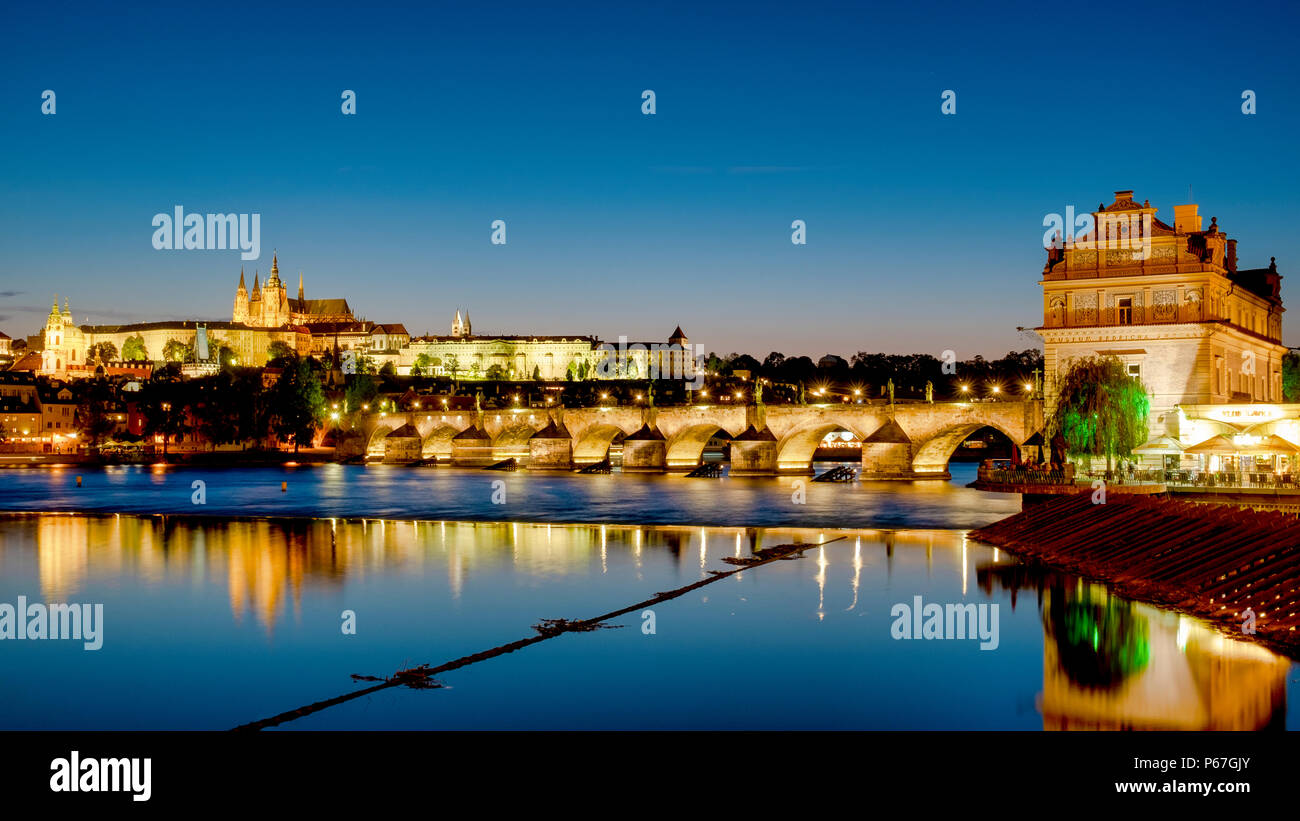Charles Bridge, Prague, Czech Republic - Stock Image