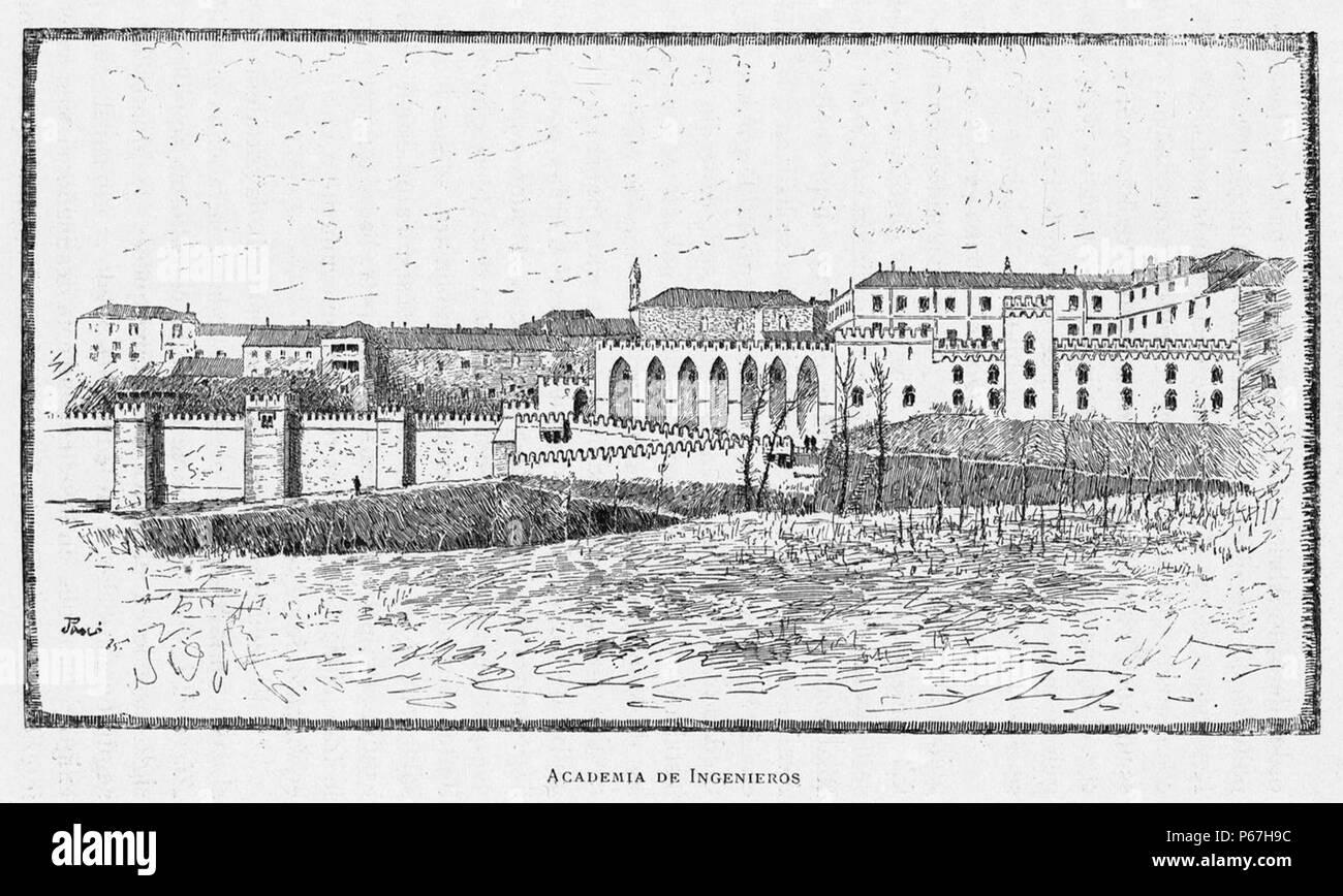 1886, España, sus monumentos y sus artes, su naturaleza e historia, Castilla La Nueva, vol 2, Academia de Ingenieros, Guadalajara, Pascó. - Stock Image
