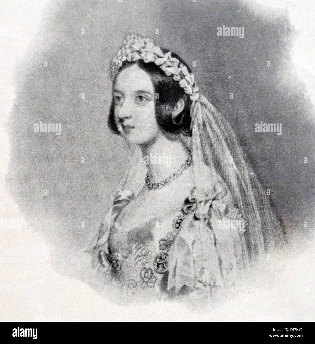 White Wedding Dress Queen Victoria: Queen Victoria Wedding Dress Stock Photos & Queen Victoria