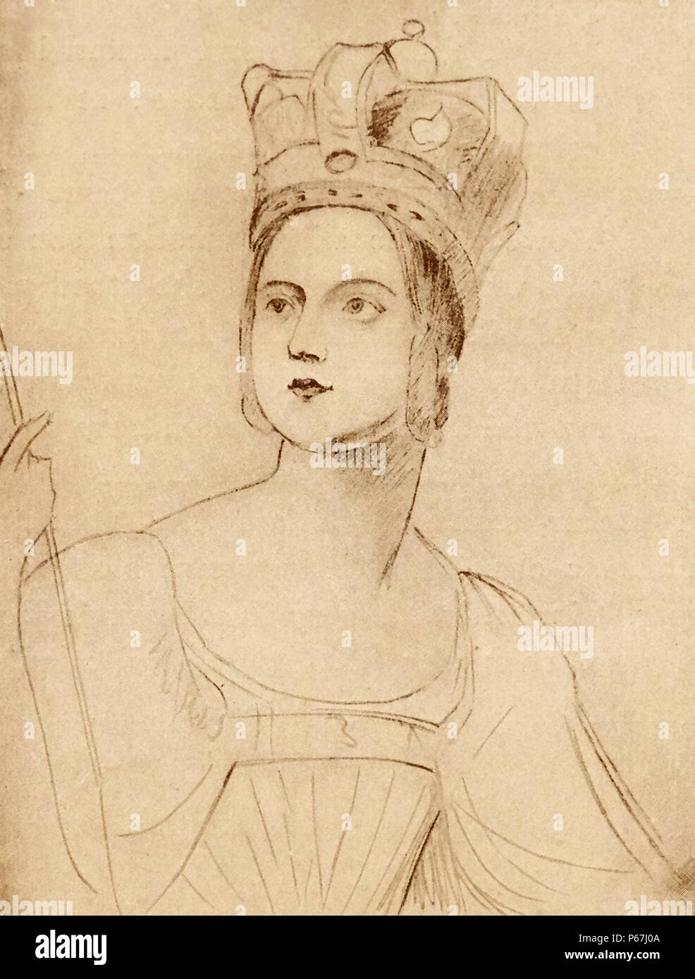 Sketch by george hayter for the coronation of queen victoria of great britain took place on 28 june 1838