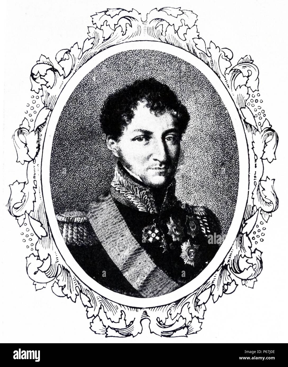 portrait of Ernest I;   Duke of Saxe-Coburg and Gotha (1784 – 29 January 1844);   father of Prince Albert the consort of Queen Victoria - Stock Image